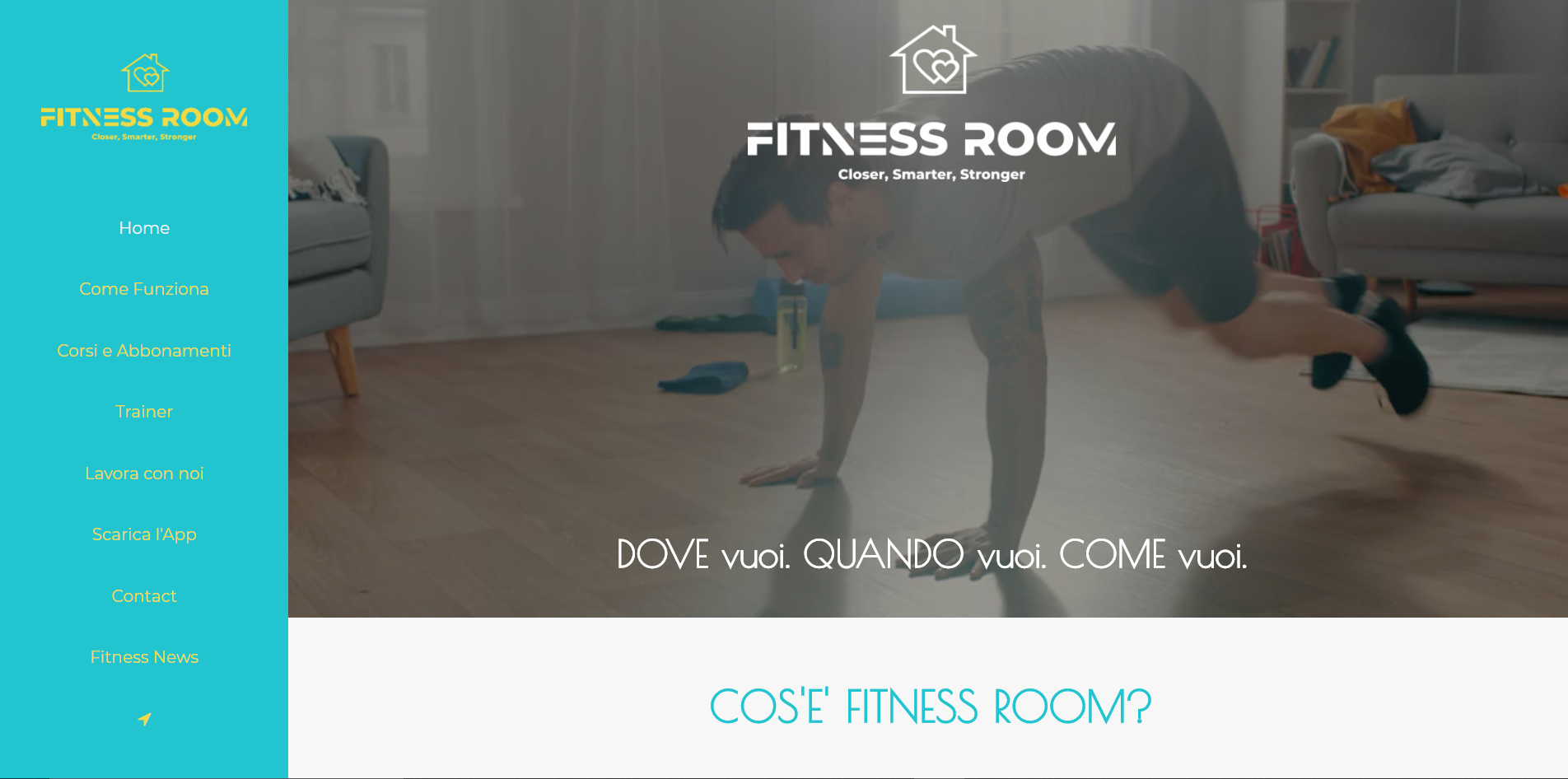 Pagine sito fitnessroom